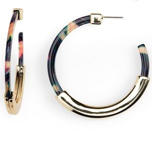 NWT Bauble bar tassiana hoop earrings